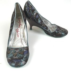 Irregular Choice Fan Iridescent Heels Sz 7.5